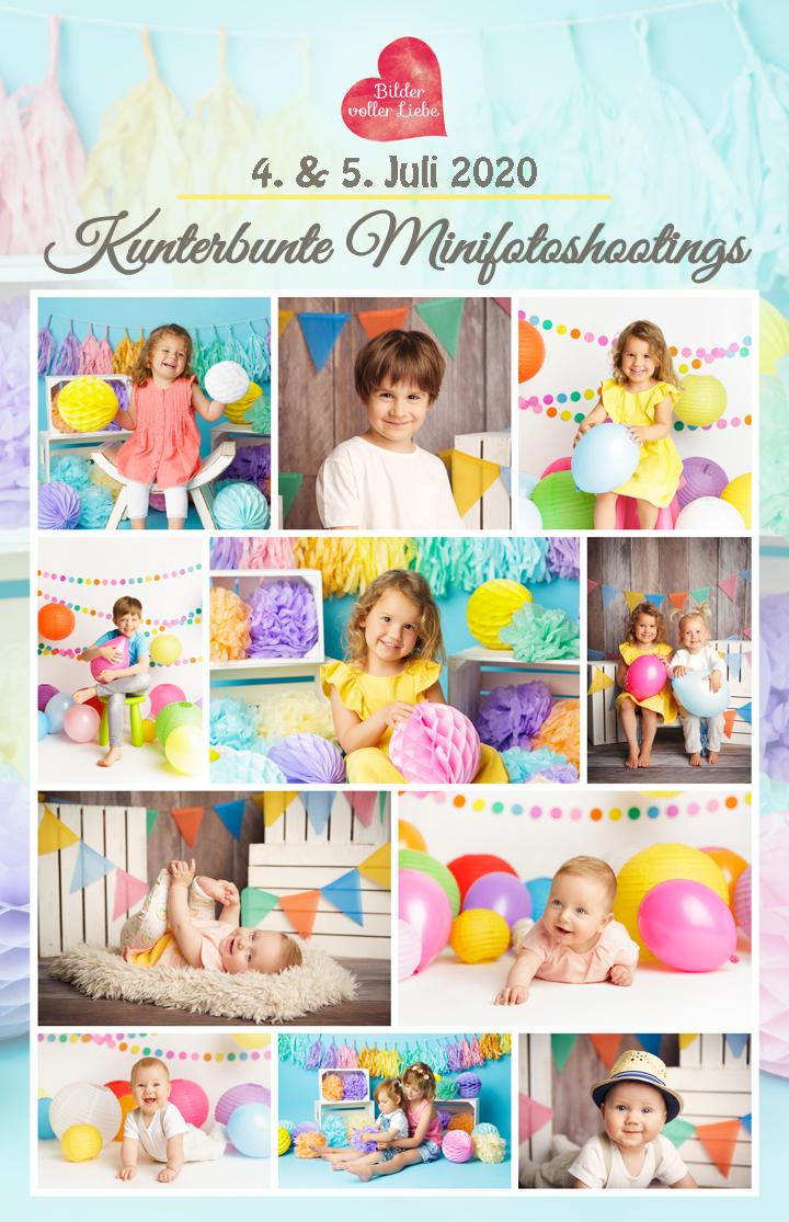 Kunterbunte Fotoshooting Aktion Berlin Baby Kinder Fotostudio